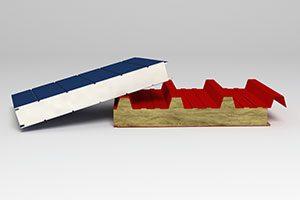 Схема расположения доборных элементов для кровельных и стеновых сэндвич-панелей