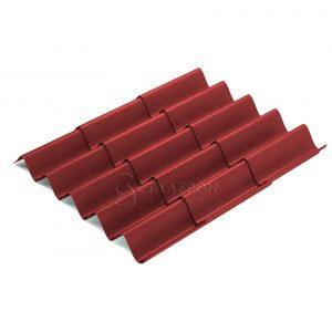 Металлочерепица «Монтеррей» 0,35 мм RAL 3005 Винно-красный