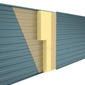Стеновая сэндвич-панель Пенополиизацианурат (ПИР) ширина 1185 толщина 40 RAL 1014