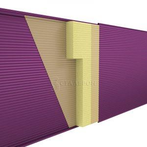 Стеновая сэндвич-панель Пенополиуретан (ППУ) ширина 1185 толщина 40 RAL 1014