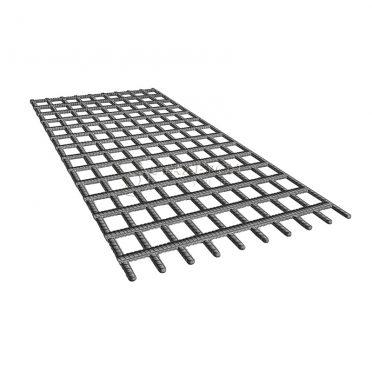 Сетка сварная неоцинкованная А3 200х200х10,0мм, карта 2х6м