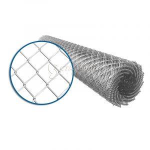 Сетка плетеная рабица 10х10 d=1,0 мм (1,0х10 м) оцинкованная