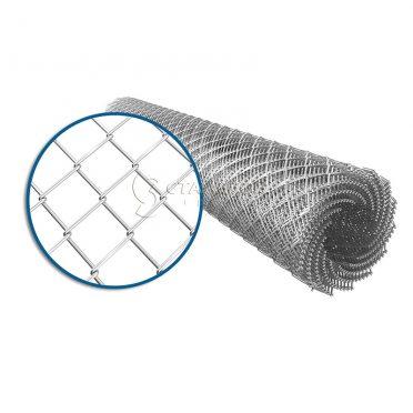 Сетка плетеная рабица 25х25 d=1,4 мм (1,5х10 м) оцинкованная